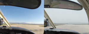 Clear skies vs 3mi Visibility